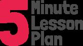 5 minute lesson plan Logo