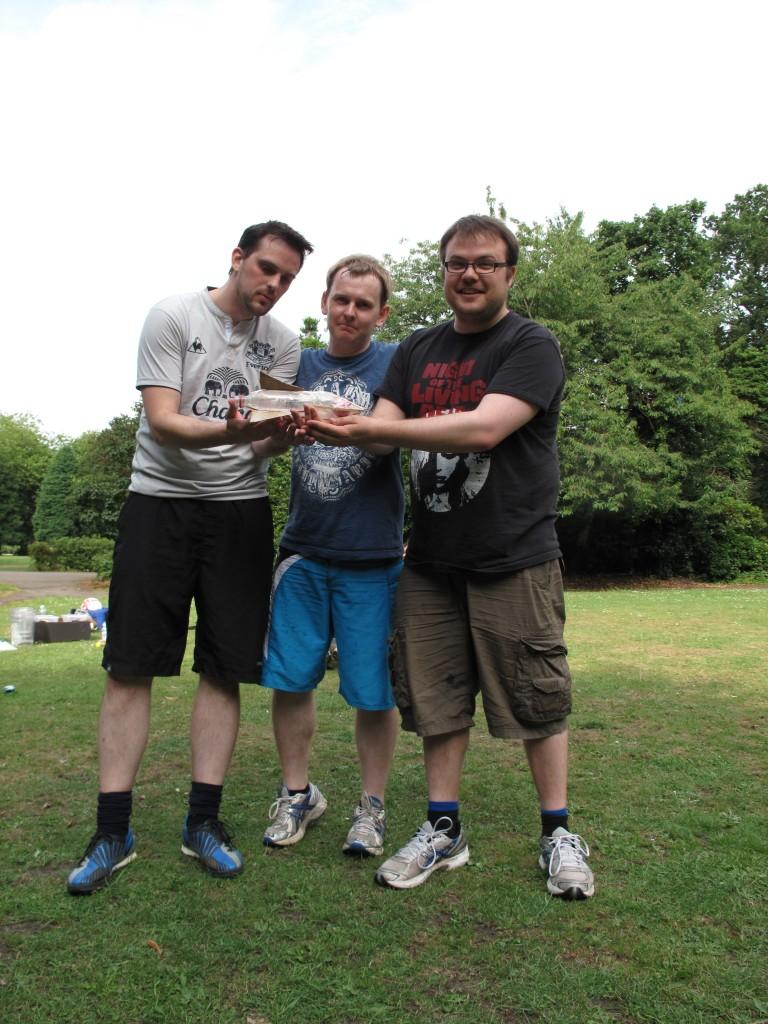 Dave, John and Nick build a rocket