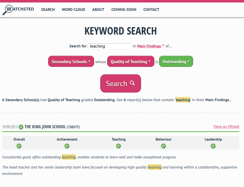 Watchsted Keyword Search