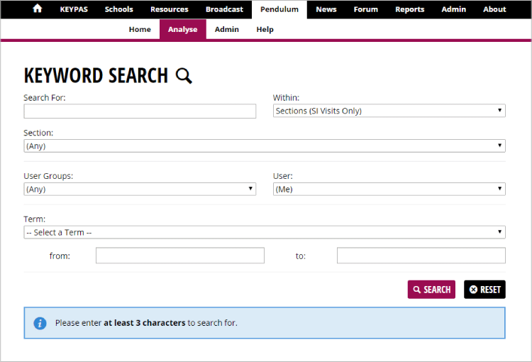 Find visit records quickly using the new keyword search page