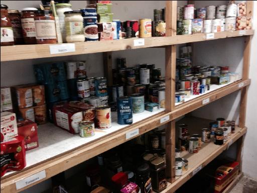 Foodbank (Didcot) store room