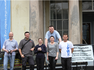 The team standing outside the mansion house (2)