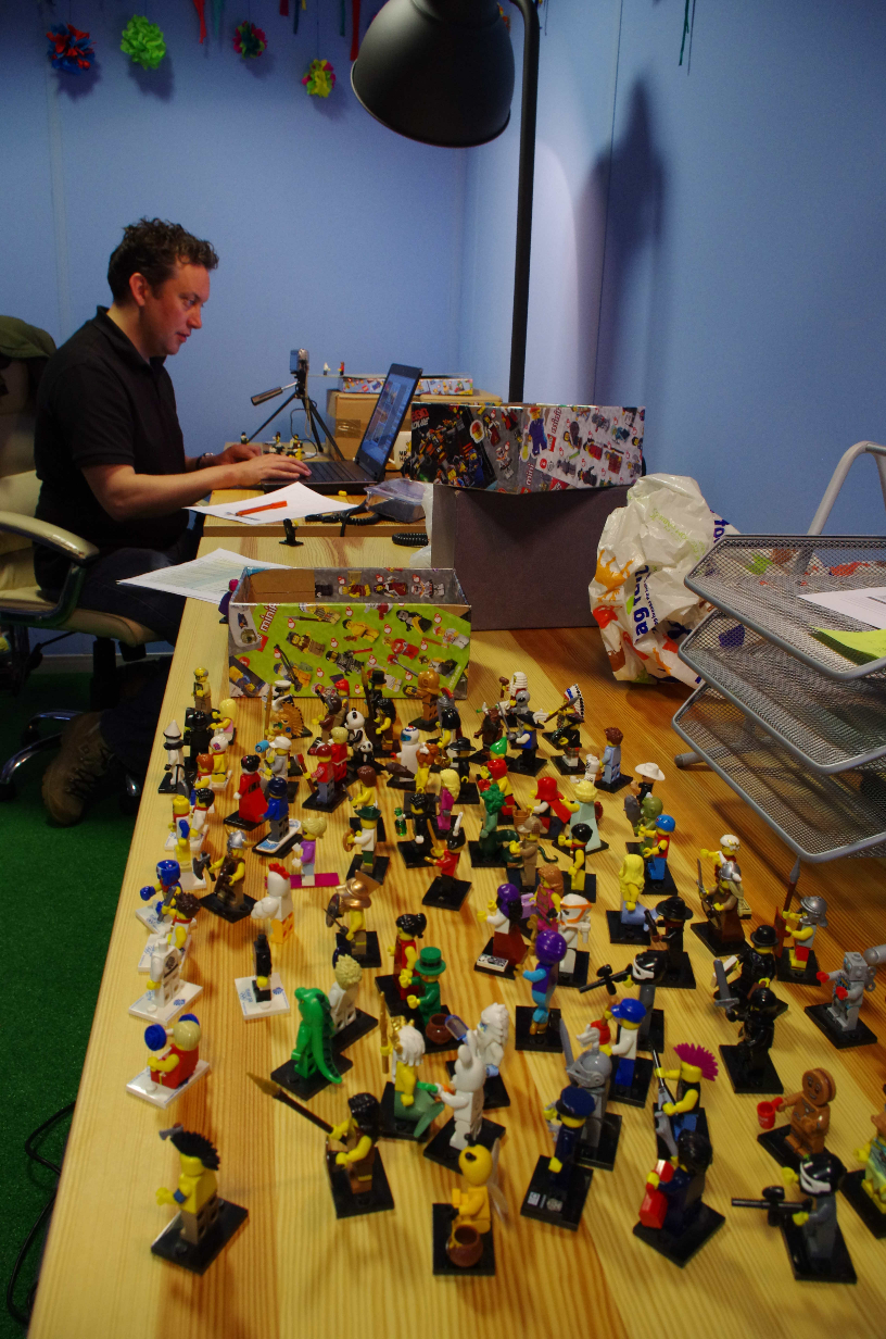 John and his Lego figures